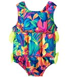 My Pool Pal Girls' Tahitian Floral Floatation Swimsuit