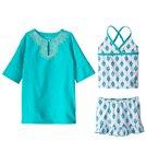Cabana Life Girls' UPF 50+ Sardinia Sands Swimsuit & Cover Up Set (2T-6X)