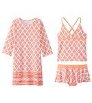 Cabana Life Girls' UPF 50+ Nantucket Sound Swimsuit & Cover Up Set (7-14)