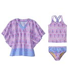 Cabana Life Girls' UPF 50+ Malibu Arrows Swimsuit & Cover Up Set (7-14)