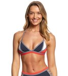 Tommy Hilfiger Strappy Stripes Triangle Crop Bikini Top