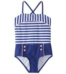 Hula Star Girls' Ships Ahoy One Piece Swimsuit (2T-6X)