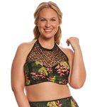 Paramour Plus Size Mykonos High Neck Halter Bikini Top
