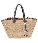 Sun N Sand Natural Straw Magnetic Snap Shoulder Tote Bag II