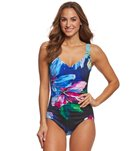 Maxine Bloom Side Shirred One Piece Swimsuit