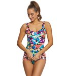 Maxine Blossom Spa Chlorine Resistant Girl Leg One Piece Swimsuit