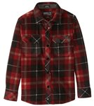 O'Neill Boys' Glacier Plaid Flannel Shirt (Big Kid)