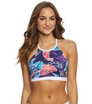 Tommy Bahama Women's Graphic Tropics Reversible High Neck Bikini Top