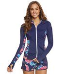 Tommy Bahama Women's Graphic Tropics Zip Front Jacket