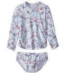 Seafolly Girls' Blue Birds Garden Rashie Set (Baby)