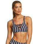 nautica-mini-stripe-lace-up-bikini-top