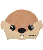 Sporti Cartoon Sea Otter Silicone Swim Cap Jr.