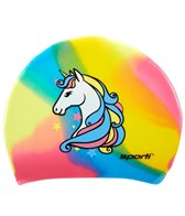 Sporti Unicorn Long Hair Silicone Swim Cap