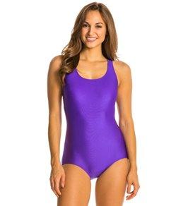 Ocean by Dolfin AquaShape Conservative Lap Suit Solid Nylon