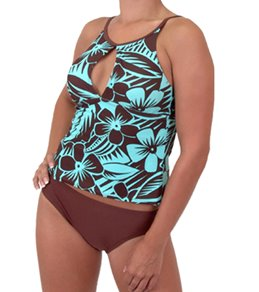 Sessa French Polynesia Empire Highneck Tankini w/Mid Scoop Bottoms