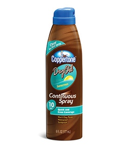 Coppertone Dry Oil Continuous Spray SPF 10 6oz