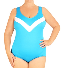 Tuffy Plus Size Solid Tank One Piece