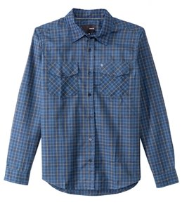 Hurley Mens Plaid Vedder Flannel Long Sleeve Button Up