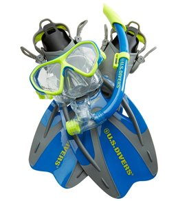 Gear Bag Set ProFlex Fins Seabreeze II Snorkel Divers Adult Cozumel Mask U.S