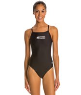 Dolfin Female Lifeguard Logo V-2 Back One Piece Swimsuit