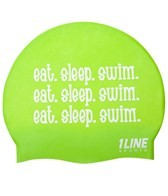 1Line Sports Eat Sleep Swim Silicone cap