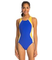 The Finals Glide Splice Super V-Back Polyester One Piece Swimsuit