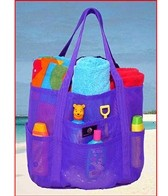 Saltwater Canvas Whale Beach Bag