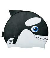 TYR Orca Silicone Swim Cap Junior Size