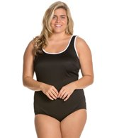 Tuffy Plus Size Active Tank One Piece Swimsuit