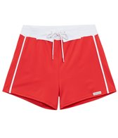 Sauvage Solid Retro Square Cut Swim Short