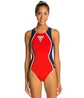 The Finals Lifeguard Glide Splice Poly Super V-Back One Piece Swimsuit