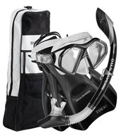U.S. Divers Admiral LX/Island Dry/Trek/Travel Bag Mask, Snorkel, and Fin Set