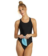 Sporti Solid Wide Strap Swimsuit