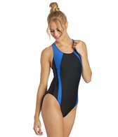 Sporti Piped Splice Wide Strap Swimsuit