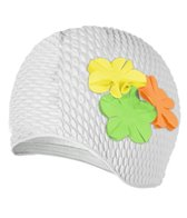 Sporti Floral Bubble Swim Cap