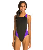 Ocean Racing by Dolfin Color Block Performance Back One Piece Swimsuit