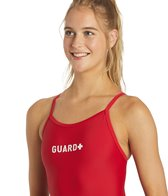 Sporti Guard Solid Thin Strap Swimsuit