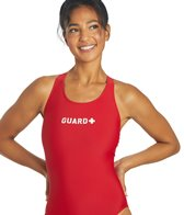 Sporti Guard Solid Wide Strap Swimsuit