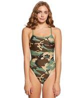 Sporti Modern Camo Thin Strap Swimsuit