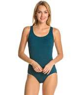 Penbrooke Krinkle Cross Back One Piece Swimsuit
