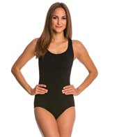 Penbrooke Krinkle Cross Back Mio One Piece Swimsuit