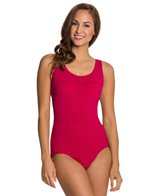 Penbrooke Krinkle Cross Back One Piece Swimsuit (D-Cup)