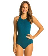 Penbrooke Krinkle High Neck One Piece Swimsuit