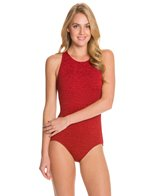 Penbrooke Krinkle High Neck Mio One Piece Swimsuit