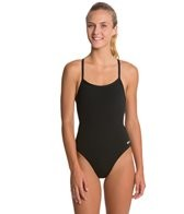 Sporti Polyester Solid Thin Strap Swimsuit