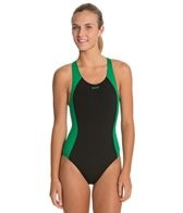 sporti-polyester-solid-piped-splice-wide-strap-swimsuit