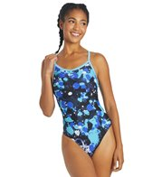 Sporti Paint Splatter Thin Strap Swimsuit