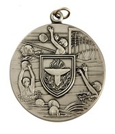 1.75 Water Polo Die Struck Medal