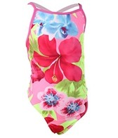 Tidepools Girls' Hanalei Contrast Cross-Back 1PC (2-14yrs)