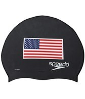 Speedo Silicone US Flag Swim Cap